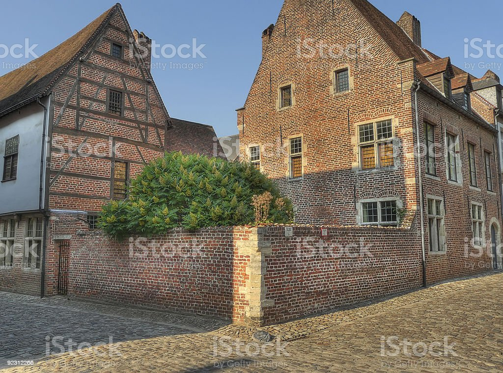 grand beguinage leuven belgium stock photo