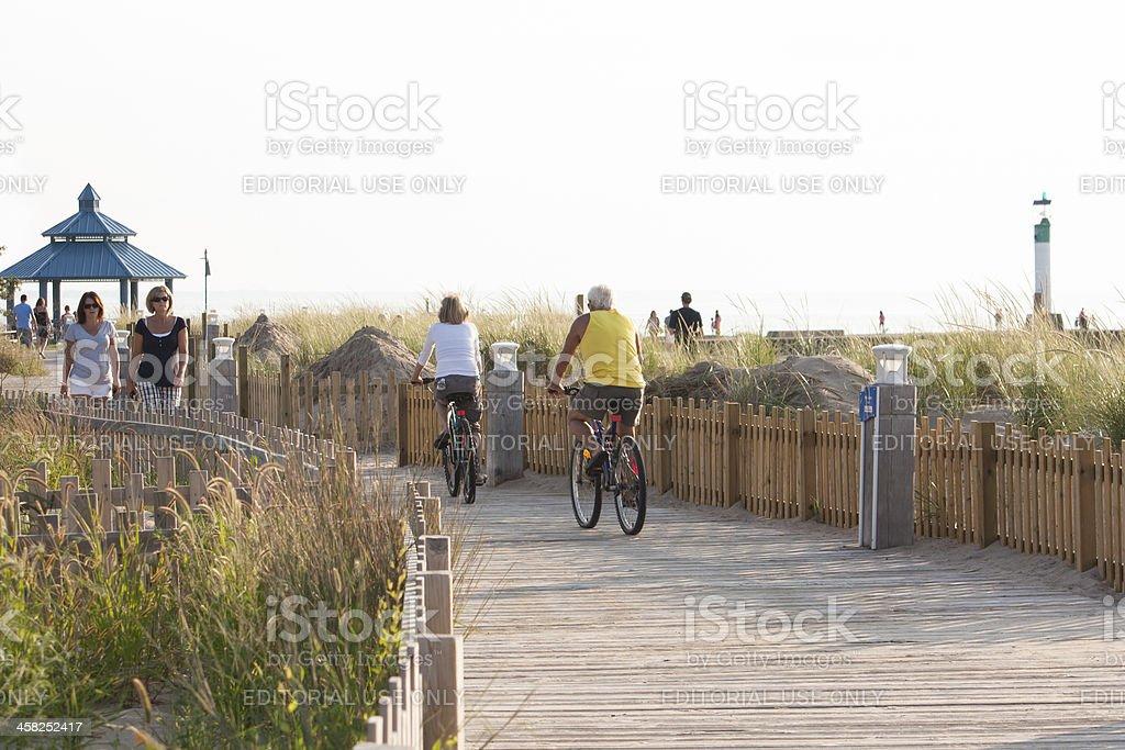 Grand Bend Boardwalk stock photo
