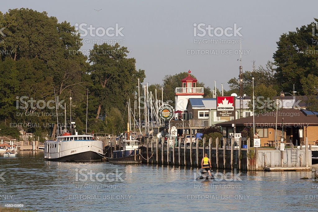 Grand Bend Harbour stock photo