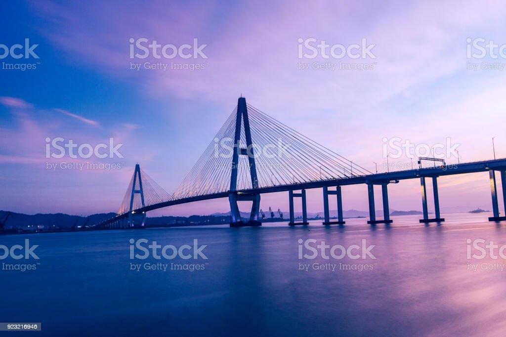 A grand bridge, Shantou, China stock photo