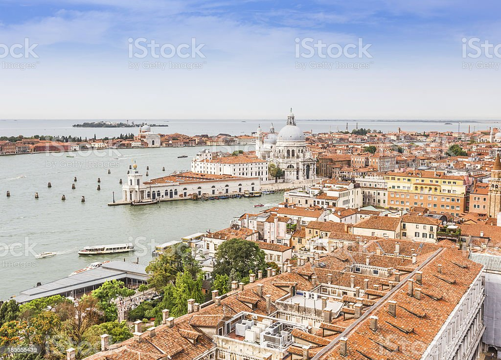 Grand Canal and Basilica on sunny day, Venice royalty-free stock photo