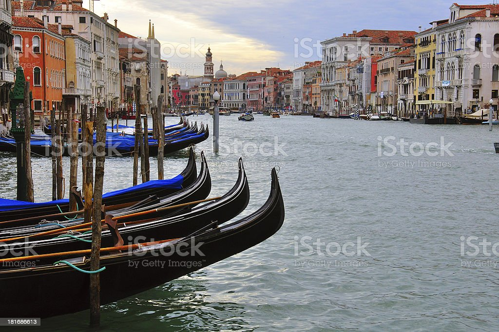 Grand canal and gondolas royalty-free stock photo