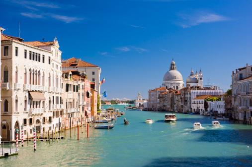 Grand Canal and Santa Maria della Salute Church Venice Italy