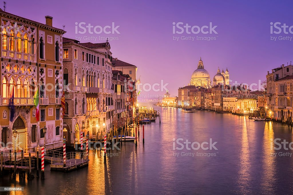 Grand Canal and Santa Maria della Salute in Venice stock photo