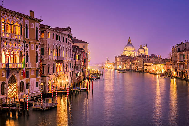 grand canal and santa maria della salute in venice - della stock pictures, royalty-free photos & images