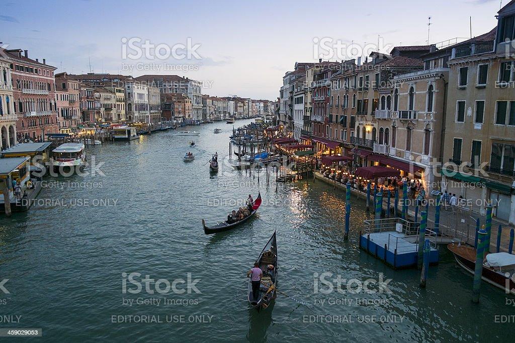 Grand Canal at dusk royalty-free stock photo
