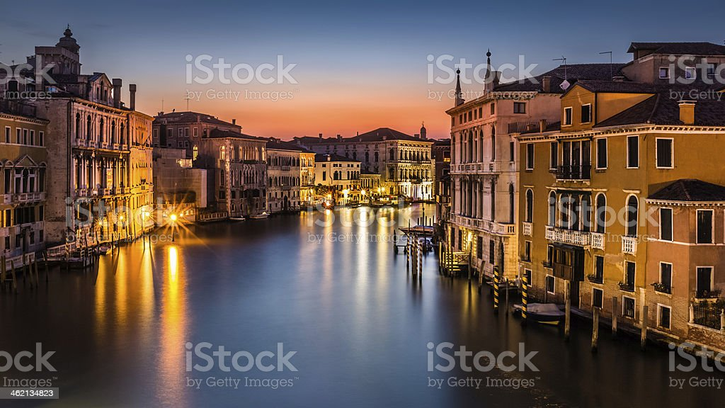 Grand Canal at dusk royalty-free stock photo