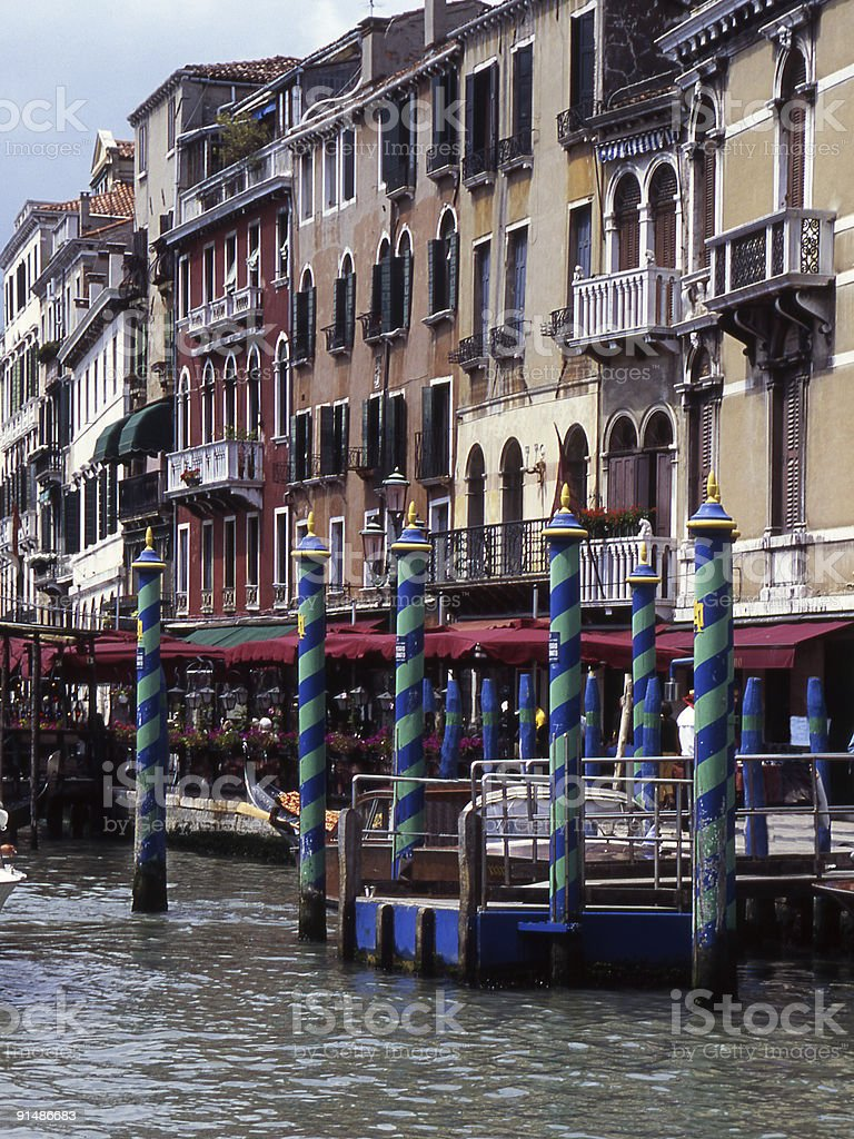 Grand Canal at Rialto in Venice. Italy royalty-free stock photo
