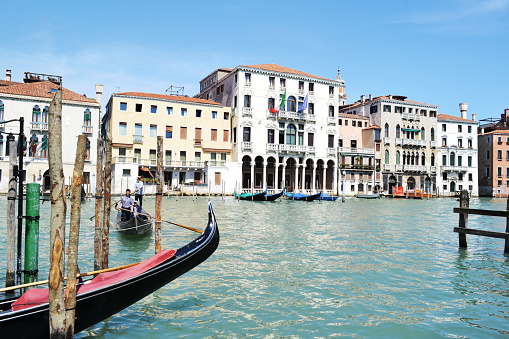 Grand canal city life in a sunny spring day.