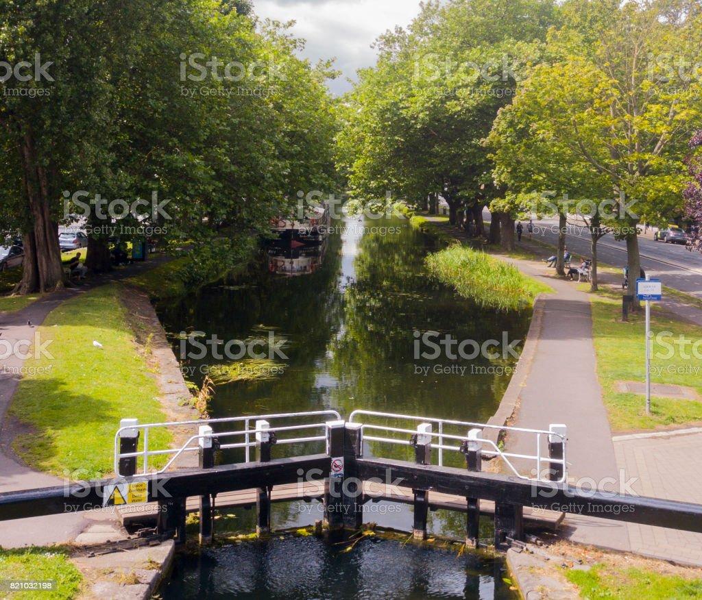 Grand Canal Dublin, Ireland stock photo