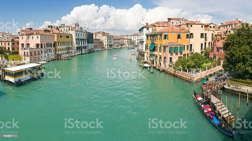 Grand Canal gondolas Venice royalty-free stock photo