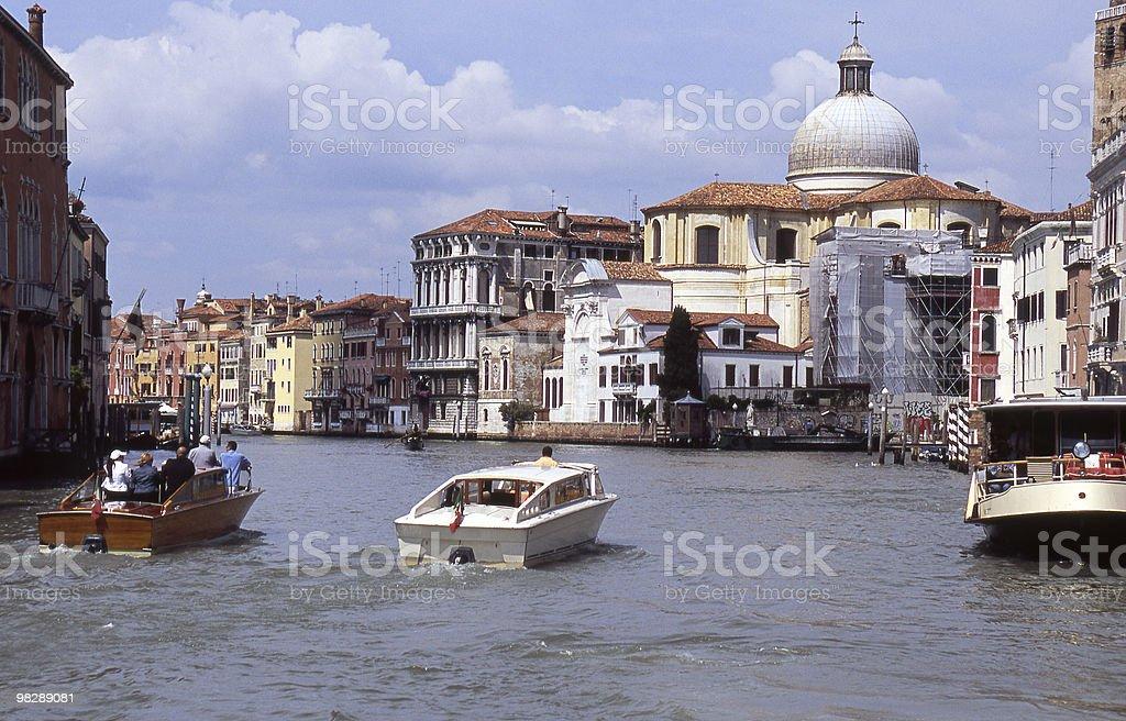 Grand Canal in Cannaregio Region of Venice. Italy royalty-free stock photo