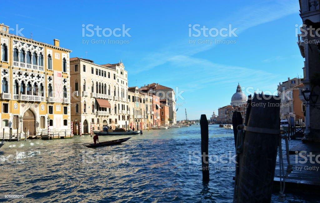 Gran canal en Venecia - foto de stock