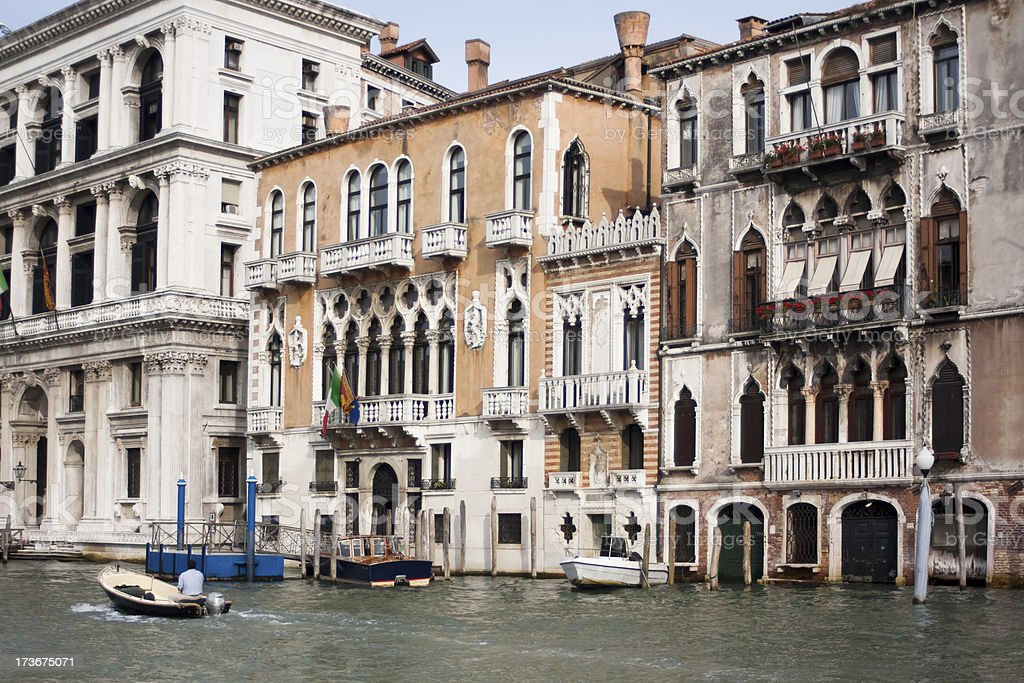 Grand canal in Venice, Italy. royalty-free stock photo