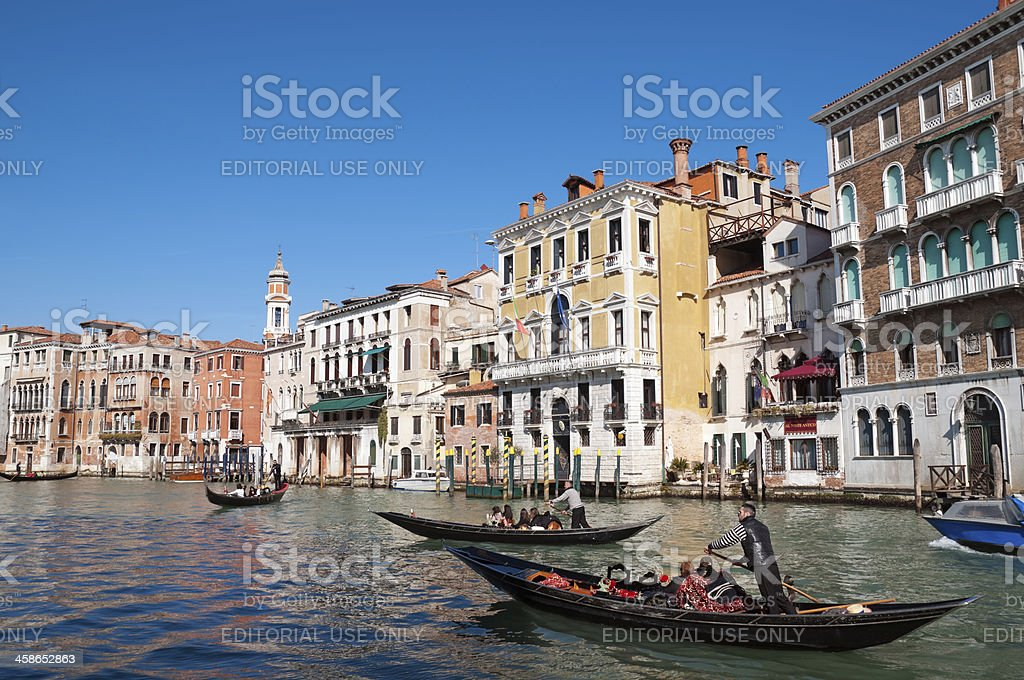 Grand Canal in Venice - Italy stock photo