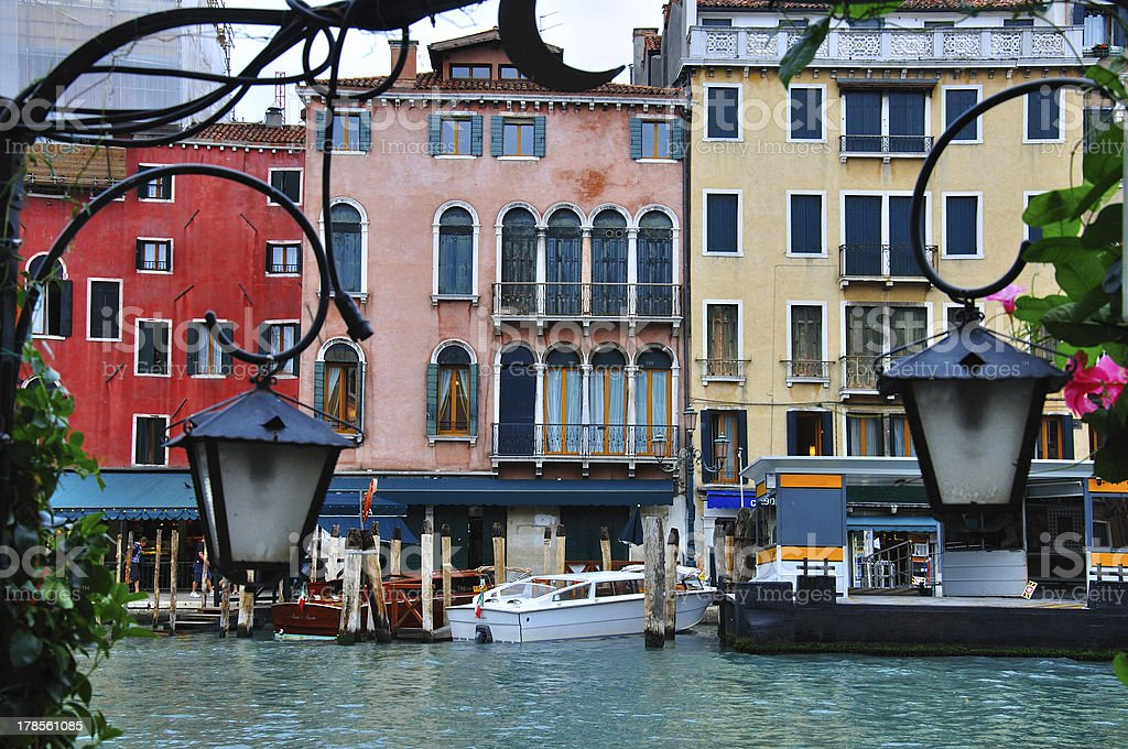 Grand canal in Venice: some details royalty-free stock photo