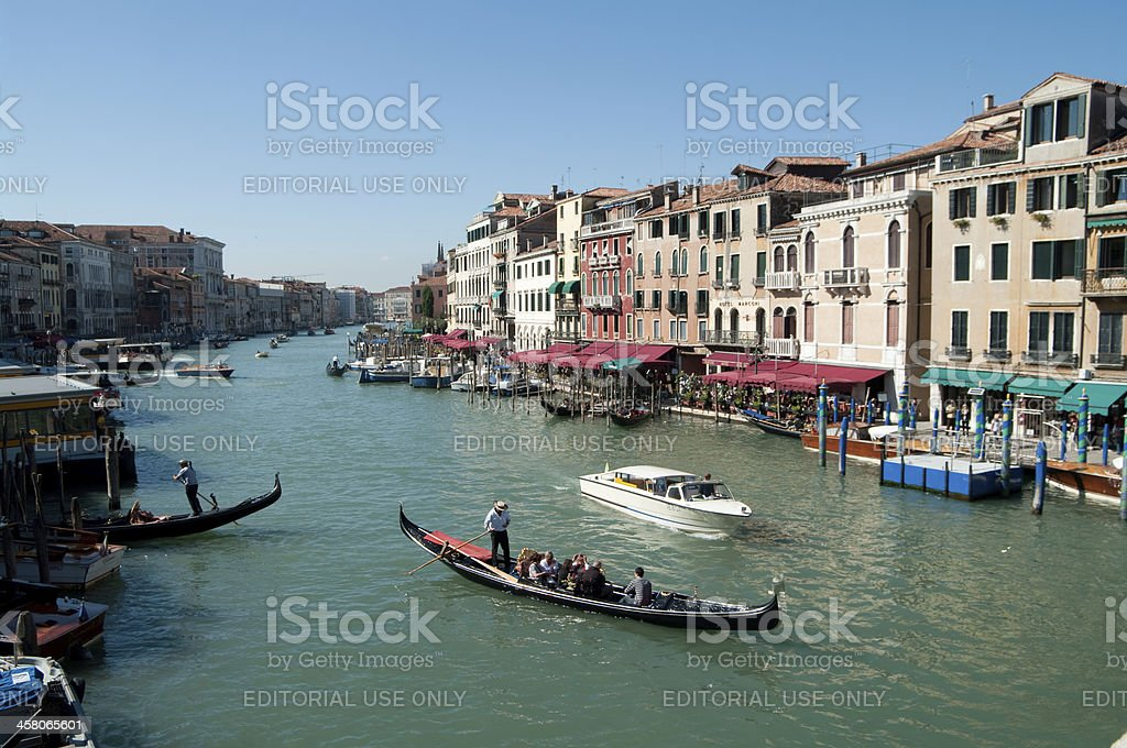 Grand Canal in Venice viewed from Rialto Bridge royalty-free stock photo