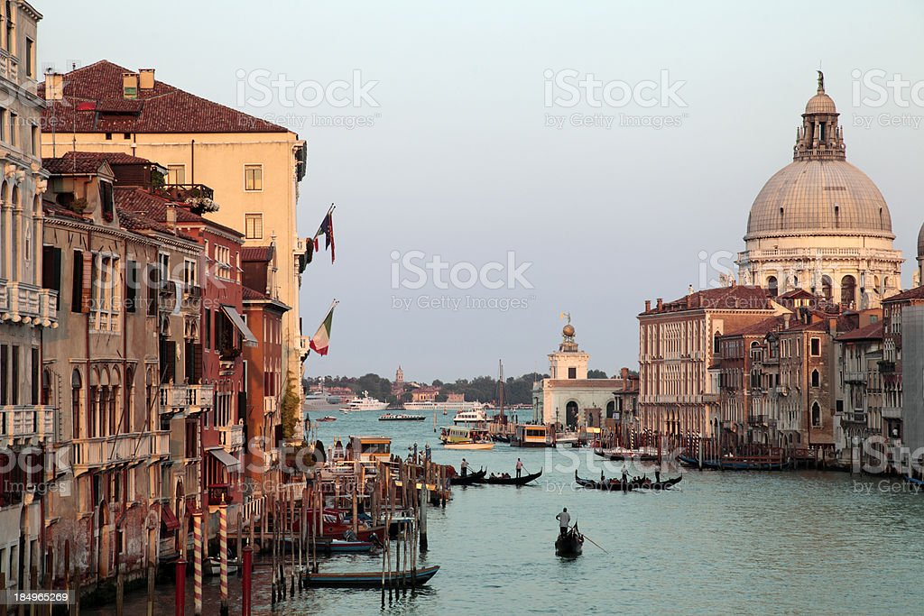 Grand canal of Venice at sunset royalty-free stock photo
