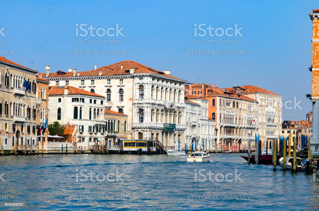Grand Canal of Venice, Italy stock photo