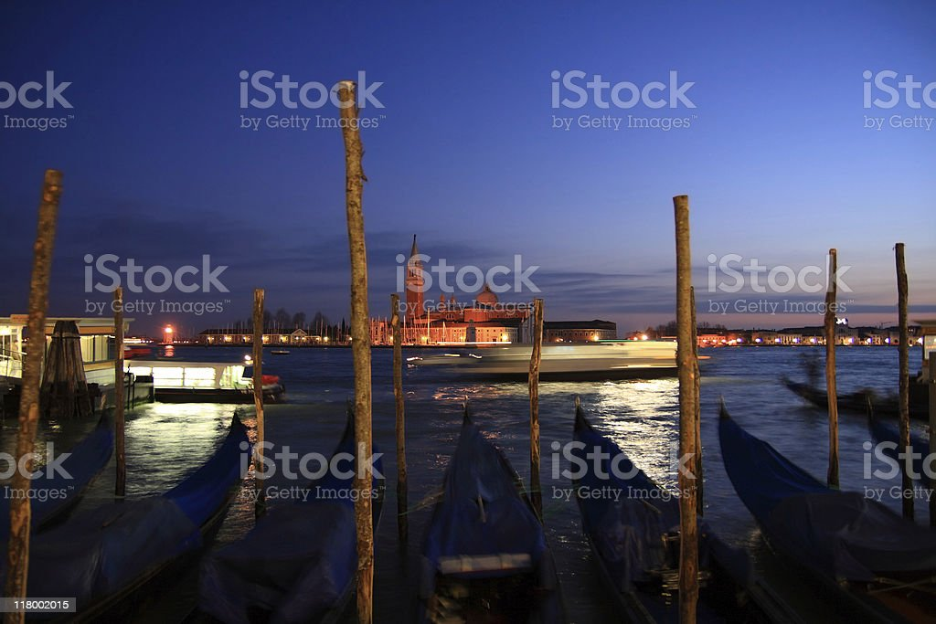Grand Canal on sunset royalty-free stock photo
