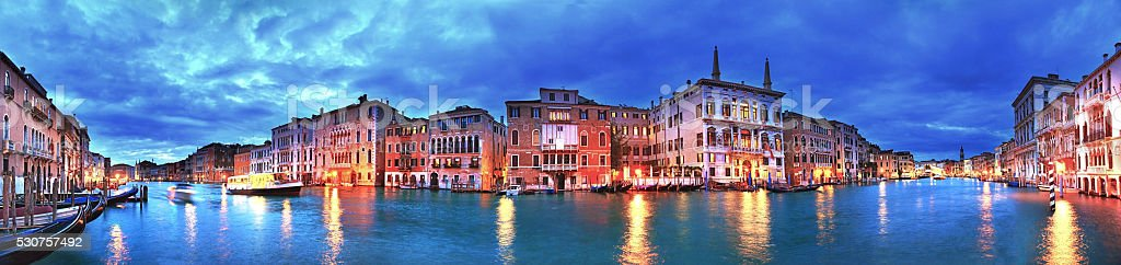 Grand Canal panorama stock photo