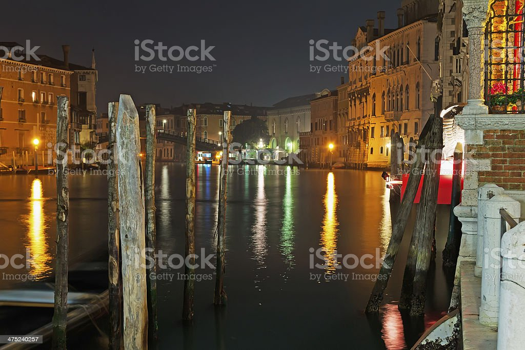 Grand Canal poles royalty-free stock photo