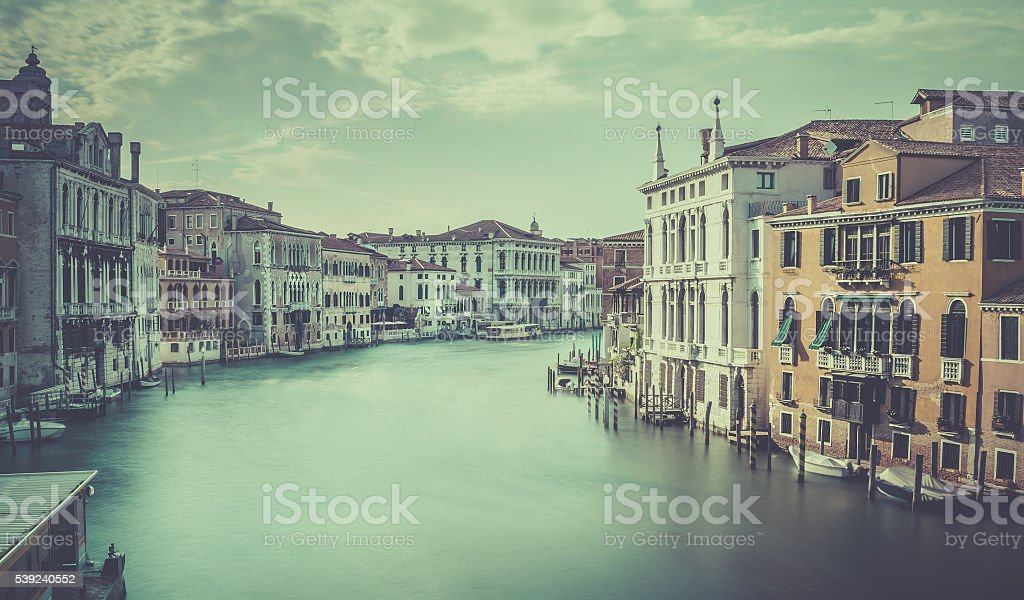 Grand Canal scene, Venice royalty-free stock photo