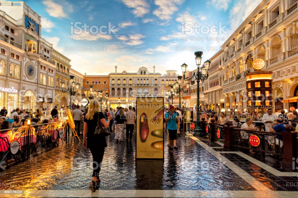 Grand Canal Shoppes im Venetian Resort Hotel, Las Vegas, Nevada, USA – Foto