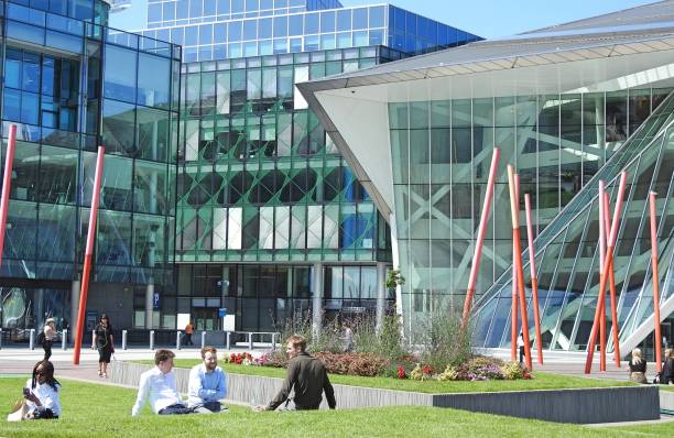 grand canal square - mamma mia stock photos and pictures