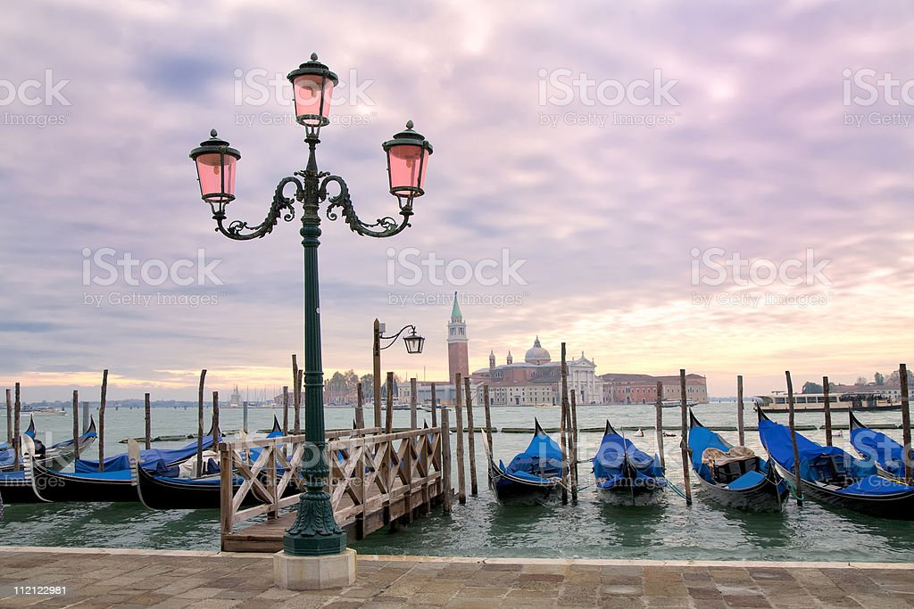 Grand Canal Sunset royalty-free stock photo