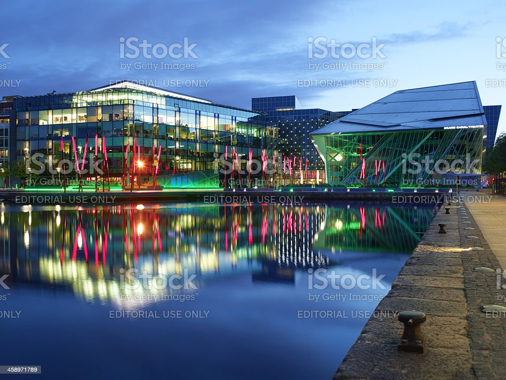 Grand canal theatre stock photo