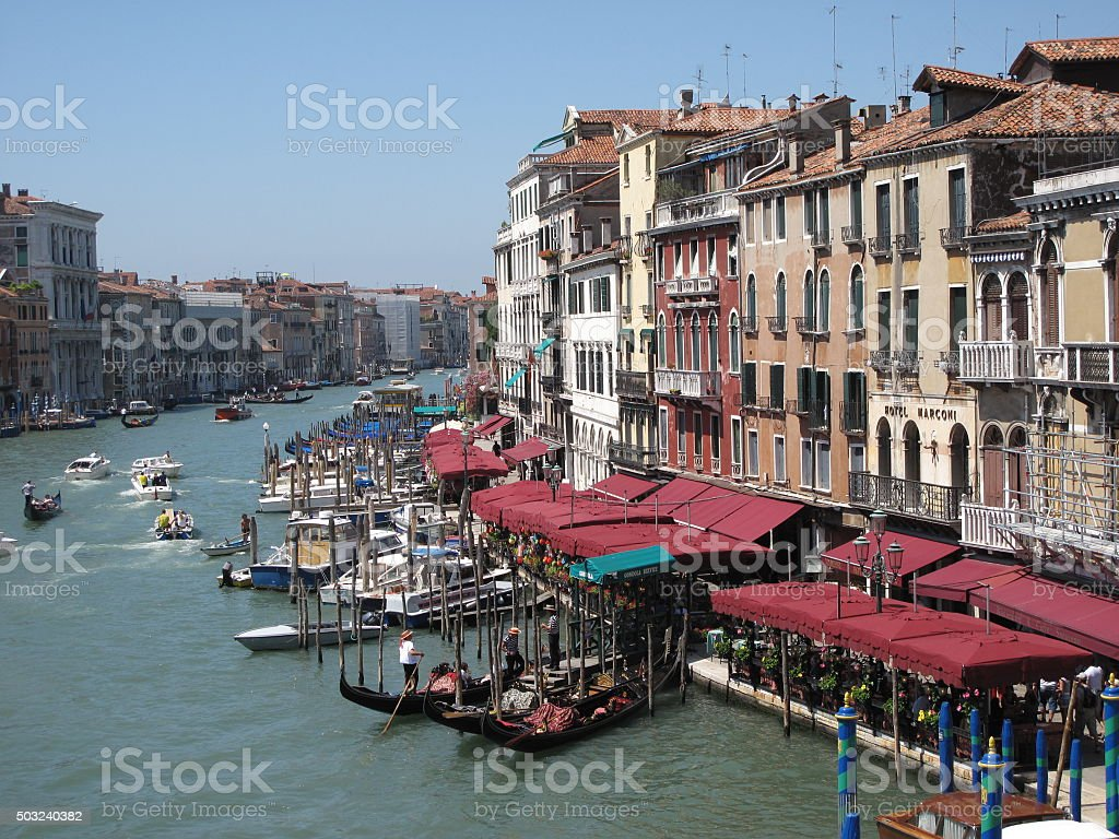 Grand Canal Venice in the Summertime stock photo