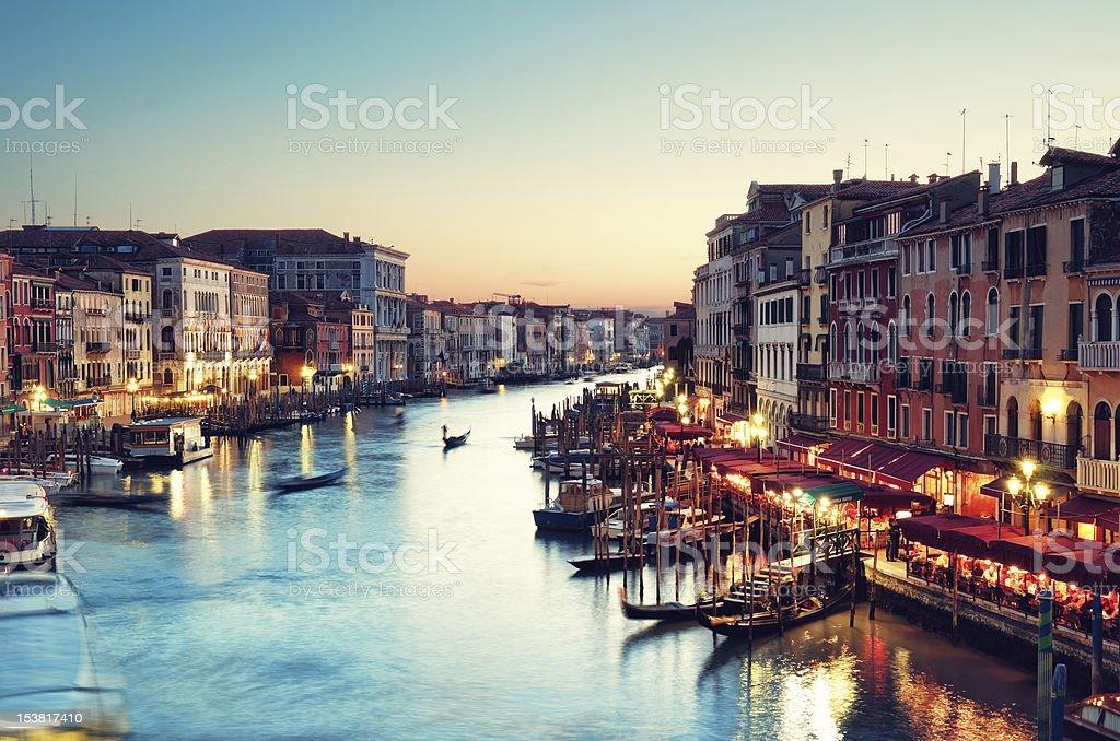 Grand Canal, Venice - Italy stock photo