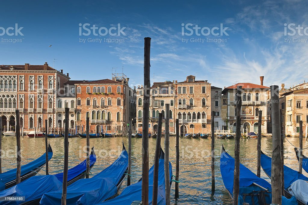 Grand Canal, Villas and Gondolas, Venice royalty-free stock photo