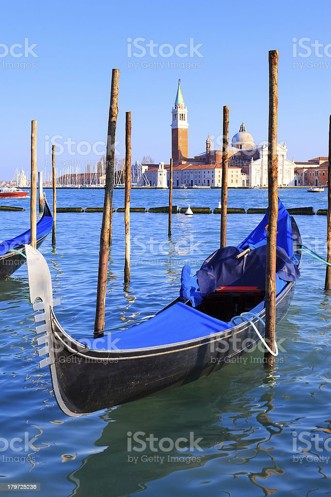 Grand Canal with gondolas in Venice royalty-free stock photo