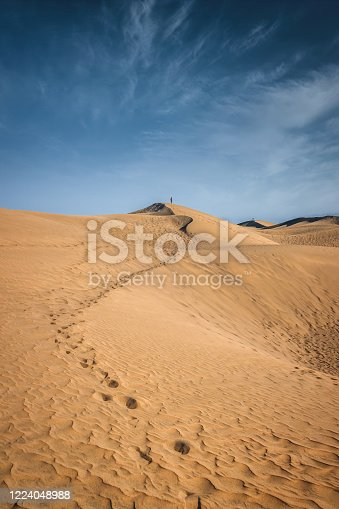 istock Grand Canary Maspalomas Dunes Footprints Spain 1224048988