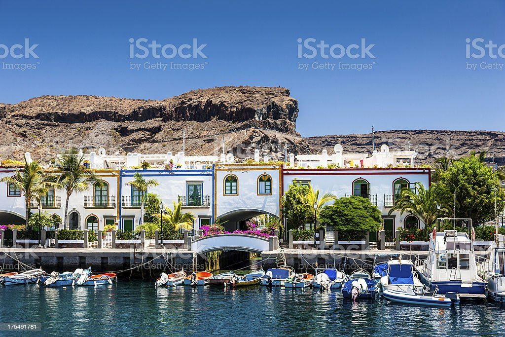 Grand Canary Puerto de Mogan stock photo