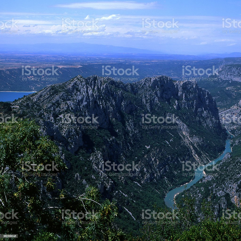 Grand Canon du Verdon & Lac de Sainte-Croix. France royalty-free stock photo