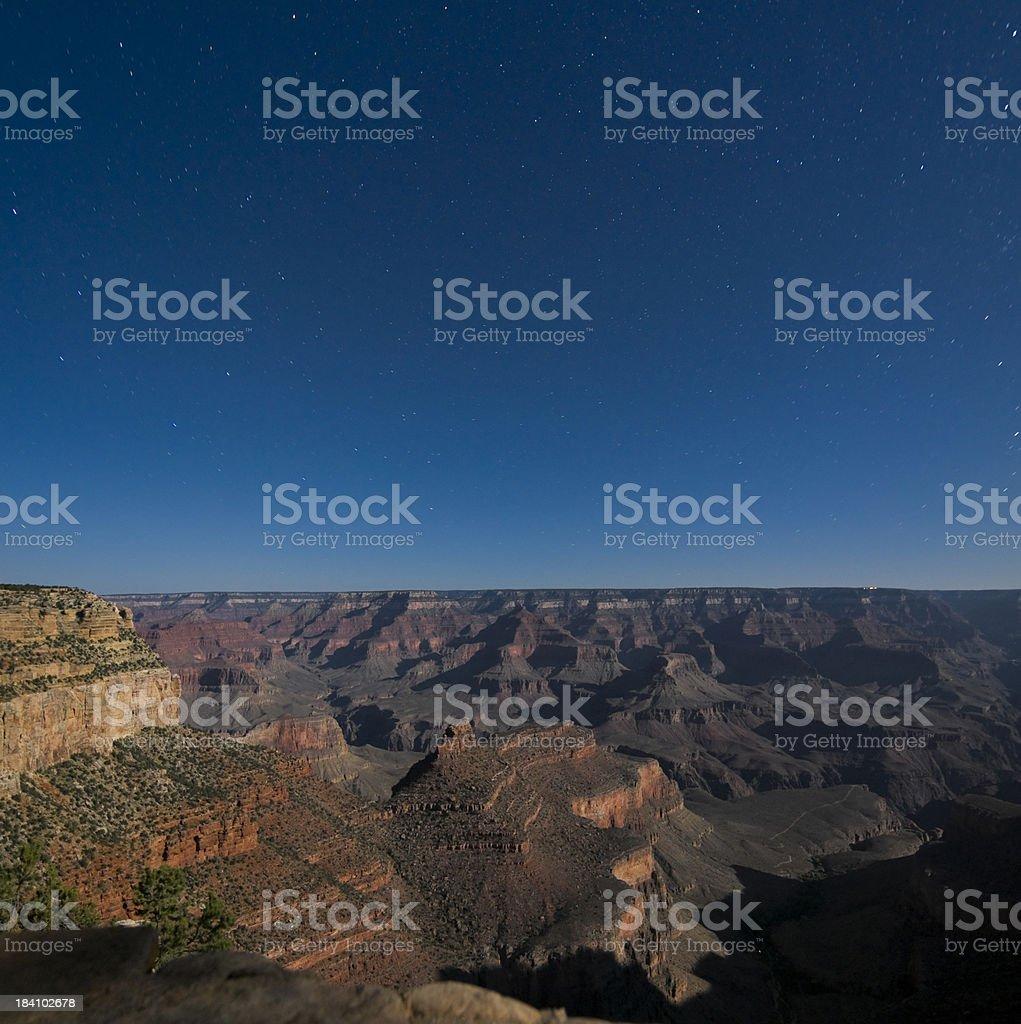 Grand Canyon at Night stock photo