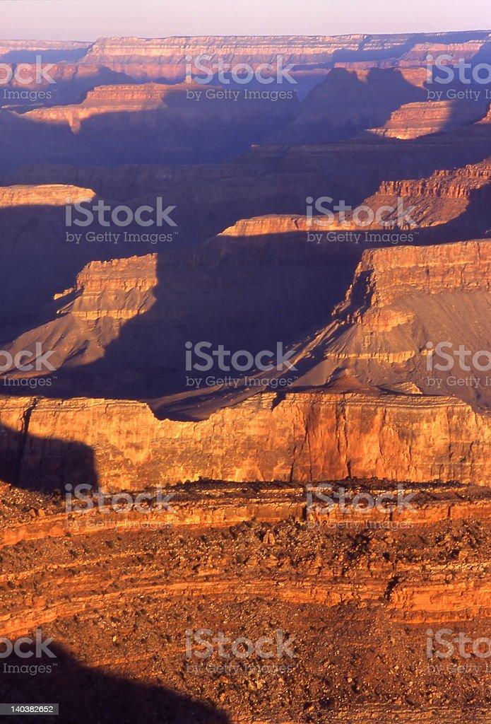 Grand Canyon at sunrise royalty-free stock photo