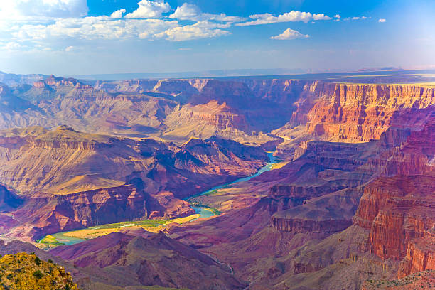 Grand canyon at sunrise stock photo