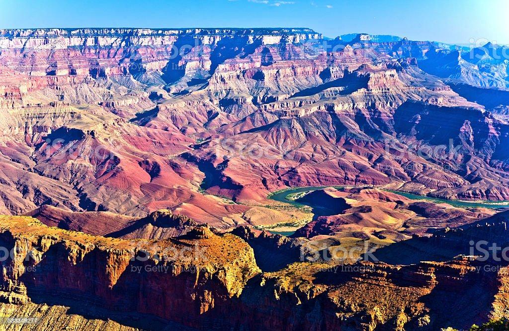 Grand canyon at sunset stock photo