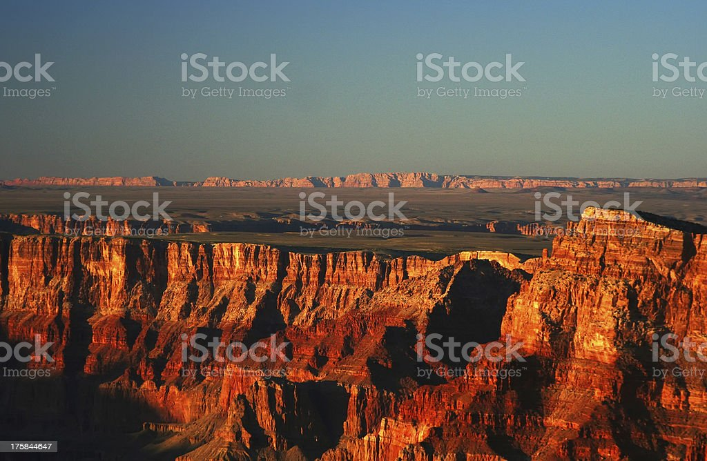 Grand Canyon at the sunset stock photo