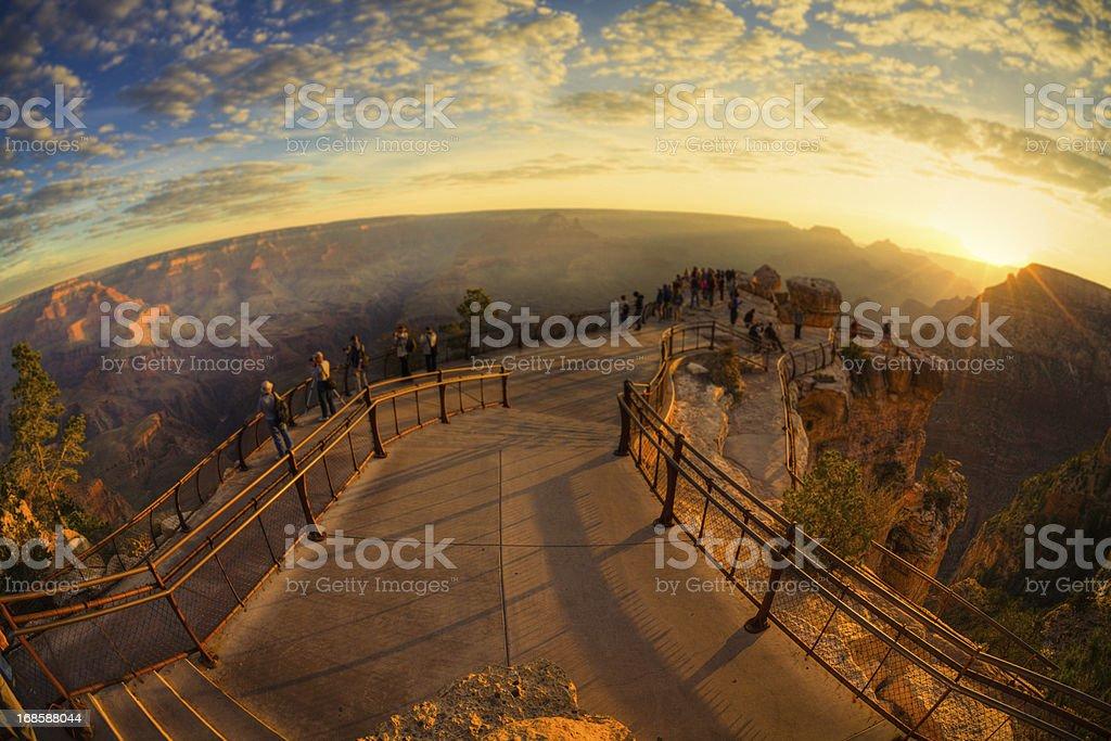 Grand Canyon at twilight stock photo