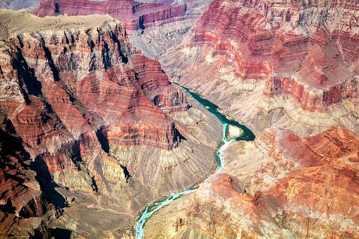 Grand Canyon, Colorado River, Aerial View, Arizona, USA