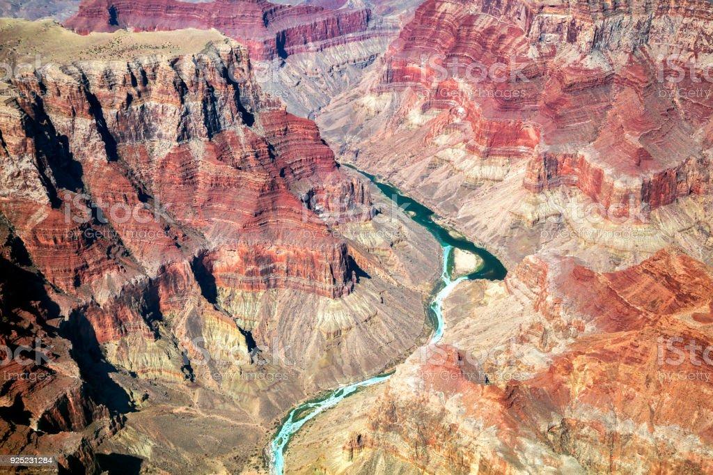Grand Canyon, Colorado River, Aerial View, Arizona, USA – Foto