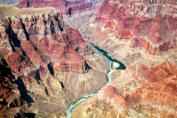 Grand Canyon, Colorado River, Aerial View, Arizona, USA stock photo
