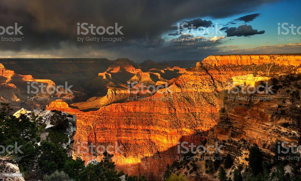 Grand Canyon, Colorado USA stock photo