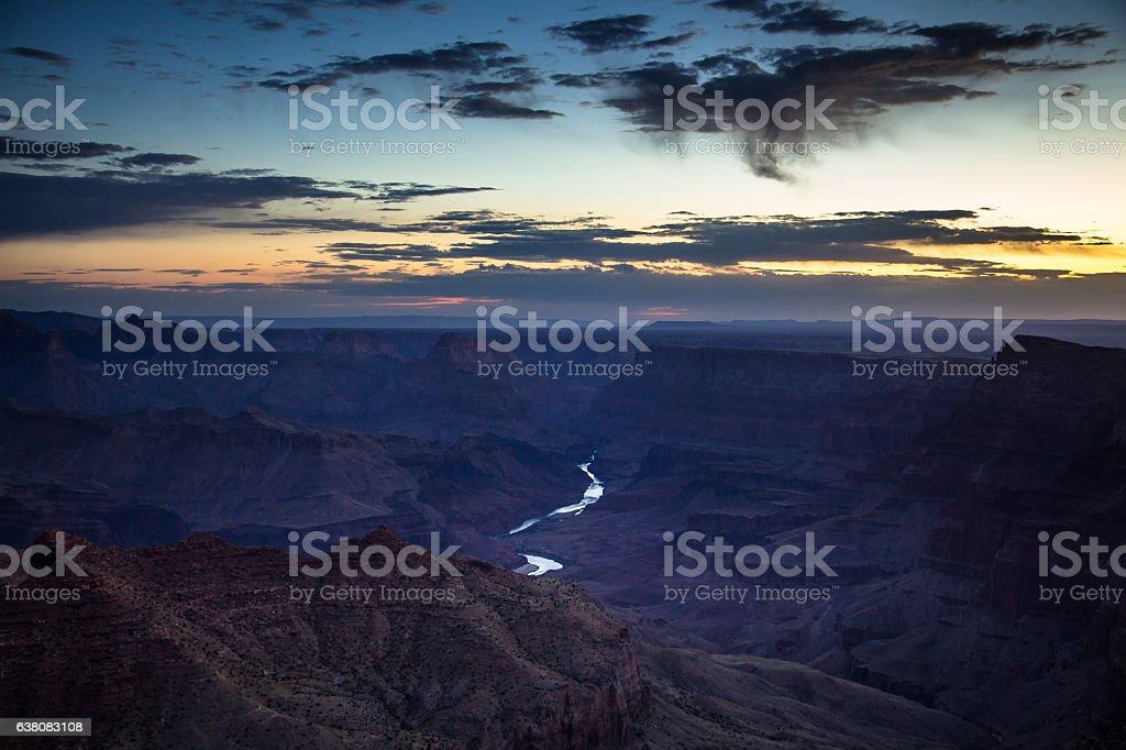 Grand Canyon Dawn stock photo