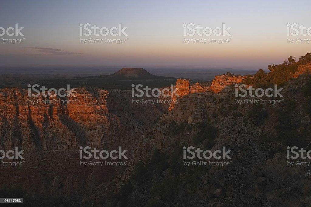 Grand Canyon Desert View Sunset royalty-free stock photo